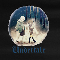 Undertale Frisk walking with Sans video game gamer rpg T-Shirt Tee