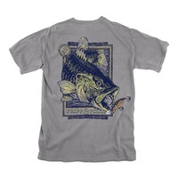 Bass & Lure T-Shirt in Grey by Fripp & Folly