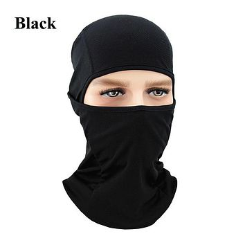 BLACK Winter Outdoor Ski Bibs Snowboard Skiing Full Face Mask Cycling Sport Headgear Tactical Paintball Cap Hat Snowbile Balaclava