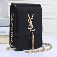 YSL Women Shopping Leather Metal Chain Crossbody Shoulder Bag Satchel Tagre™