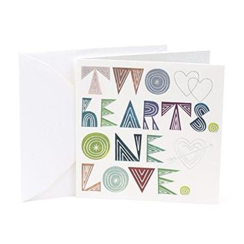 Studio Ink Wedding Greeting Card (Two Hearts One Love)