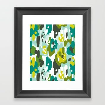 Painted Camo Framed Art Print by Heather Dutton