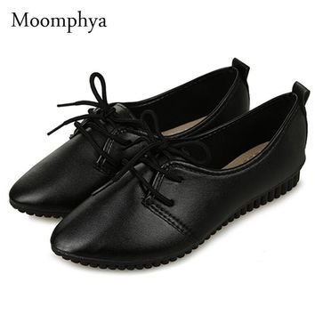 Fashion Online Moomphya Women Shoes High Quality Women Flats Slip On Flat Shoes