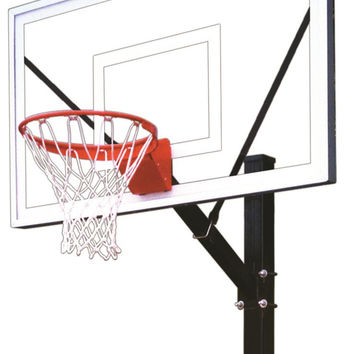 First Team HydroSport Select Fixed Height Pool Side Basketball Hoop 60 inch Acrylic