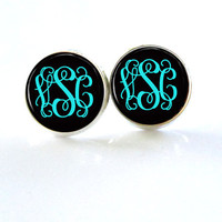Monogram Earrings Stud (348)