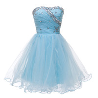 Summer Women Fashion Masquerade Prom Ball Gown  Short Cocktail Party dresses