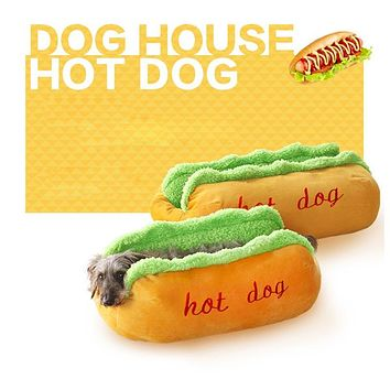 Cute Hot Dog Bed For Small Pet