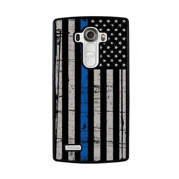 THIN BLUE LINE FLAG LG G4 Case Cover
