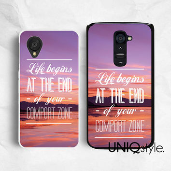 Life quote phone case for LG G2, Nexus 4, Nexus 5, LG google plastic back cover, sunset sunrise view hard pc case or soft rubber case, E83