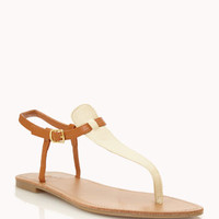 Colorblocked Thong Sandals