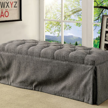 Furniture of america CM3342BN-GY Payson III gray fabric love seat bedroom entry bench