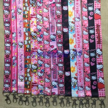 Lot 100Pcs mixed Classic hello kitty Cartoon Mobile Cell Phone Lanyard Neck Straps Party Gifts MM951