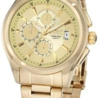 Invicta Men's 1484 Specialty Collection Chronograph Gold Dial 18k Gold Ion-Plated Stainless Steel Watch:Amazon:Watches