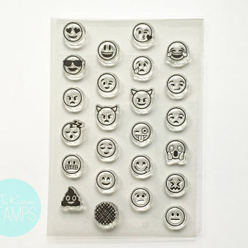 "Ms. Kimm Creates EMOJI IT 4""x6"" Photopolymer Clear Stamp Set - Journal, Planner - Limited Release"