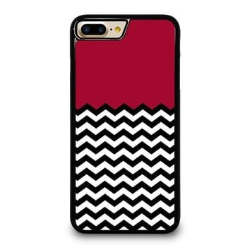 COLORBLOCK DARK RED CHEVRON Pattern iPhone 4/4S 5/5S/SE 5C 6/6S 7 8 Plus X Case