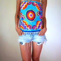 Rainbow Balloon Lace Crochet Top