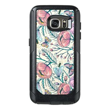 Girly Vintage Rose Garden Flower Pattern Elegant OtterBox Samsung Galaxy S7 Case