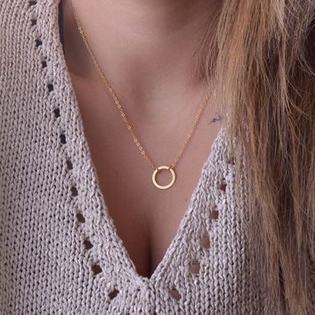 Infinity Karma Circle Necklace - Gold, Rose Gold and Silver