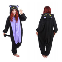 Free Shipping  Hot New Adult Animal Onesuit The Midnight Cat Onesuit Cosplay Costume Pajamas for Sale in Stock