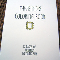 Friends TV Show Coloring Book