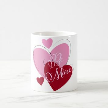 Pink Red Hearts Valentine's Day Mug