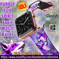 SOLD! Purple Fox Spirit Apple Watch Band – Design by BluedarkArt | Casetify