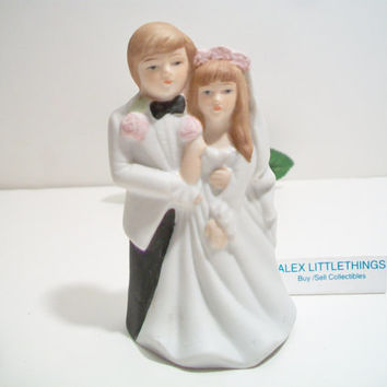 Vintage Wedding Couple Figurine Retro Bride Groom Cake Topper Korea