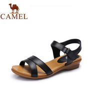Camel Women's Sandals Low Heel Genuine Leather Flat Sandals Casual Sandals A62862615