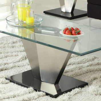 He-3455-30 Silverstone Collection Cocktail Table, Metal Base