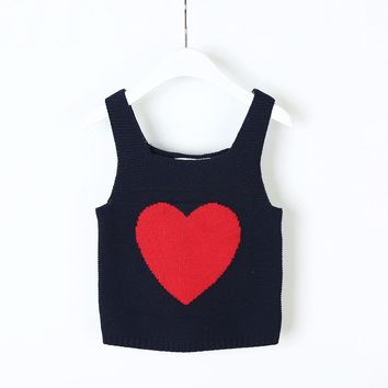 Boys Girls Vests Jacket Kids Clothes Knitting Fashion Heart Children Clothing Girl Waistcoat Spring Autumn Casual Baby Boys Ves