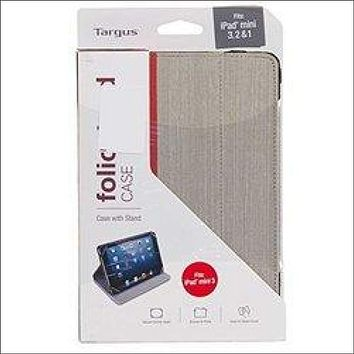 Targus Foliostand Case for iPad Mini, Grey with Red Stripe