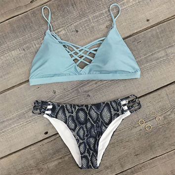 Seabreeze Lace Up Bikini Set