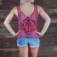 Optical Illusion Bow Back Top