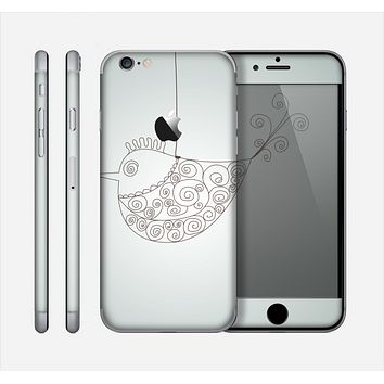The Simple Vintage Bird on a String Skin for the Apple iPhone 6