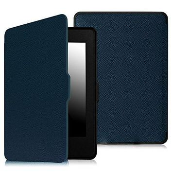 Fintie SmartShell Case for Kindle Paperwhite - The Thinnest and Lightest PU Leather Cover With Auto Sleep/Wake for All-New Amazon Kindle Paperwhite (Fits All 2012, 2013, 2015 and 2016 Versions), Navy