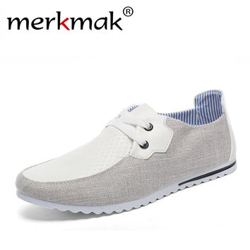 Breathable Man Hemp Summer Flat Shoes Fashion Outdoor Men Shoes