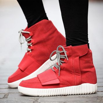 2017 Fashion Autumn Boots Men Shoes Outdoor Platform kanye hip hop Shoes Lace Up Ankle Boots For West military Boots