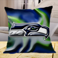 Seattle Seahawks NFL Logo  on Square Pillow Cover