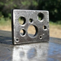 HOLES Custom Steel Belt Buckle Random Hole Pattern by FreakofMetal
