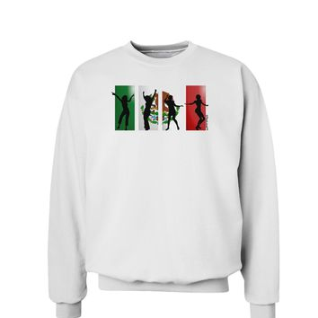 Mexican Flag - Dancing Silhouettes Sweatshirt by TooLoud