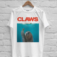 Claws jaws parody sloth T-shirt Men, Women Youth and Toddler