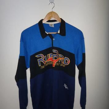 Vintage RUN BIRD The Professional Athletic Gear Rugby Sport Shirt Long Sleeve Shirt Po