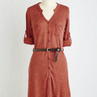 Mid-length 3 Shift T.A.-Okay Dress in Paprika