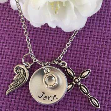 Memorial Jewelry Necklace - Memorial Jewelry - Personalized - Remembrance Keepsake - Loss of Loved One - Sympathy Gift - Faith - In Memory