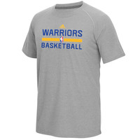 Men's Golden State Warriors adidas Gray On-Court climalite Ultimate T-Shirt