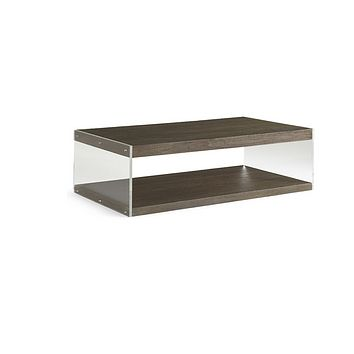 Brownstone Furniture Dalton Coffee Table with Lucite