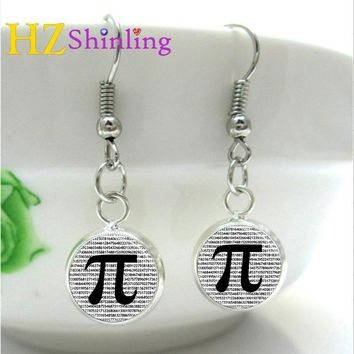 PI Earrings Math Jewelry
