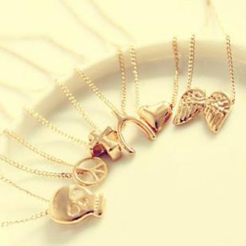 Foreign trade jewelry simple wild temperament clavicle chain short paragraph wishing necklace women hot jewelry (with card) HF
