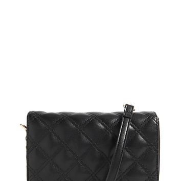 Quilted Faux Leather Crossbody Bag