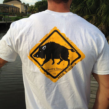 Hog Crossing Series Short Sleeve Tee with Pocket